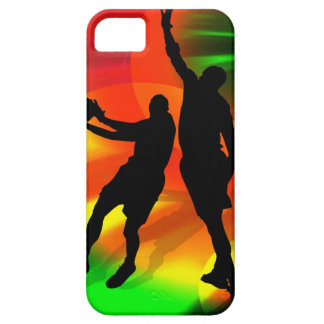Basketball Duo Bright Court Lights iPhone 5 Cover