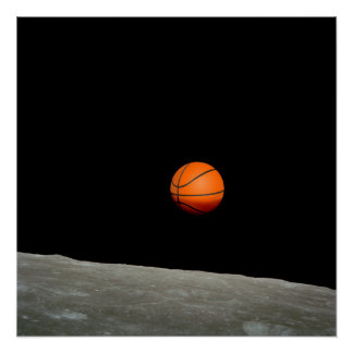 basketball earth from moon space universe