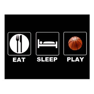 Basketball Eat Sleep Play Postcard