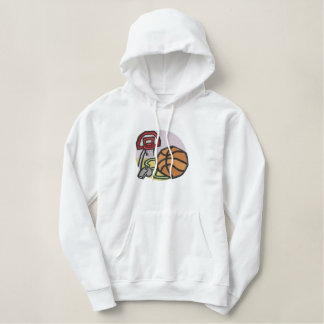 Basketball Embroidered Hoodie