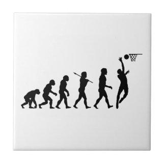 Basketball Evolution Fun Sports Art Small Square Tile