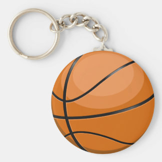 Basketball Fan Basic Round Button Key Ring