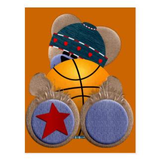 Basketball Fan Bear Postcard