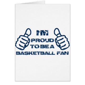 Basketball Fan design Greeting Card