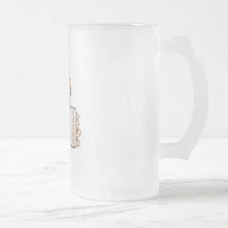 basketball fan freak frosted glass mug