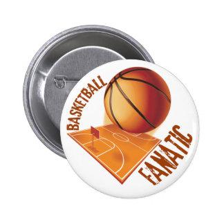 BASKETBALL FANATIC 6 CM ROUND BADGE