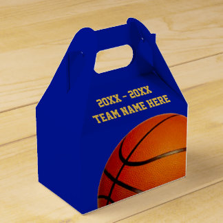 Basketball Favor Bags Boxes Your TEXT and COLORS Wedding Favour Box