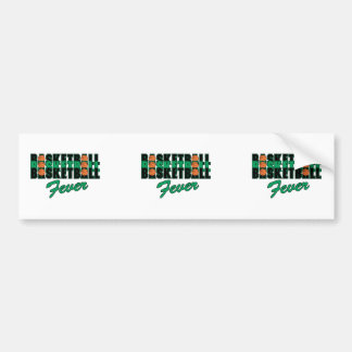 basketball fever black and green bumper sticker