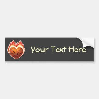 Basketball Flame (personalized) Bumper Sticker Car Bumper Sticker