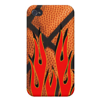 Basketball Flaming Hot Iphone 4 case