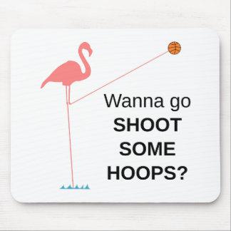 Basketball Flamingo Mousepad