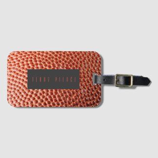 BasketBall FootBallLeather Look Textured Luggage Tag