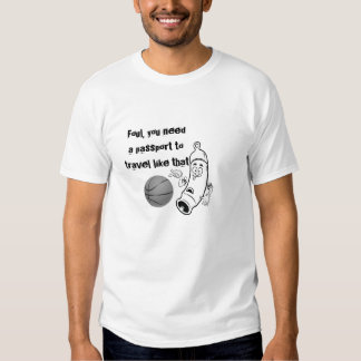 Basketball Foul Traveling Cartoon Whistle Tee Shirts