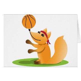 Basketball fox greeting card