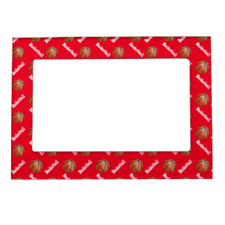 Basketball Frame ( DIY Background Color ) Magnetic Picture Frames