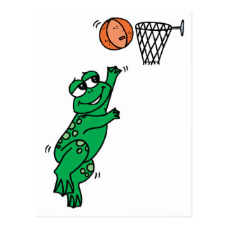 Basketball Frog Postcard