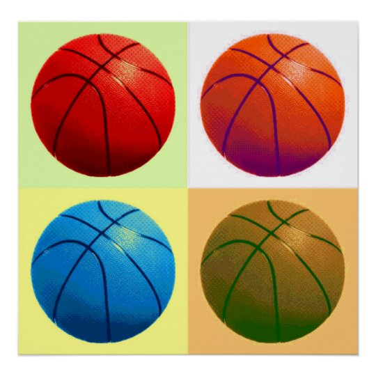 Basketball Game Artwork Poster