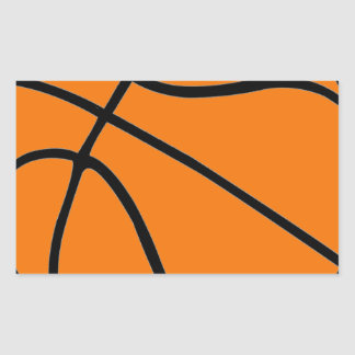 Basketball Gear Rectangle Stickers