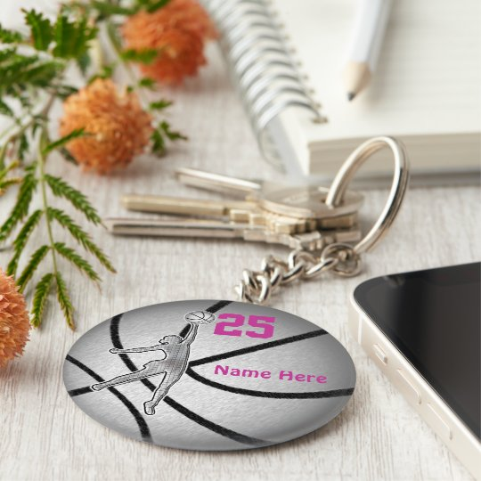 Basketball Gifts for Girls Team PERSONALIZED Basic Round