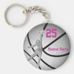 Basketball Gifts for Girls Team PERSONALIZED Keychain