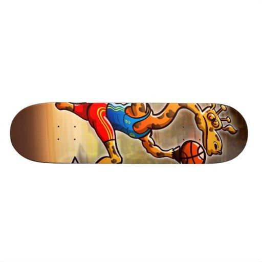 Basketball Giraffe Custom Skate Board