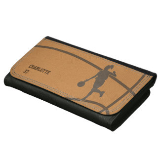 Basketball Girl Custom Leather Wallet