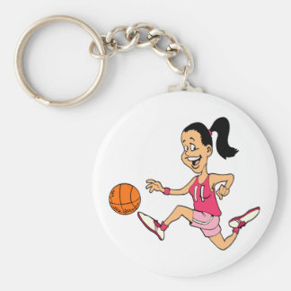 Basketball Girl Key Ring