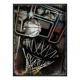 Basketball Goal Art Poster