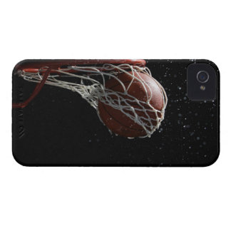 Basketball going through hoop 2 iPhone 4 covers