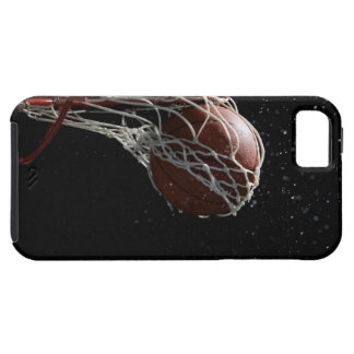 Basketball going through hoop 2 iPhone 5 case