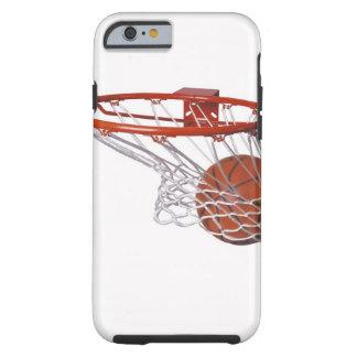 Basketball going through hoop tough iPhone 6 case