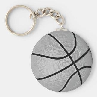 Basketball Grey / Grey Basic Round Button Key Ring