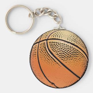 Basketball grunge texture keychain