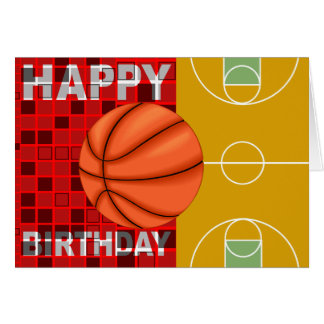 Basketball Happy Birthday Card