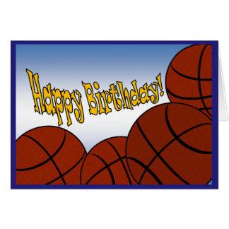 Basketball - Happy Birthday from Biggest Fan! Card