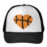 basketball heart hat