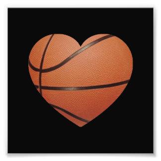 Basketball Heart Photo Art