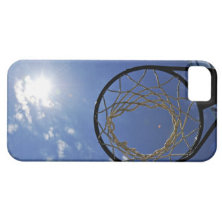 Basketball Hoop and the Sun, against blue sky iPhone 5 Cases