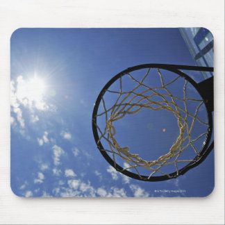 Basketball Hoop and the Sun against blue sky Mouse Pad