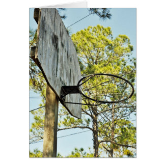 Basketball Hoop Card