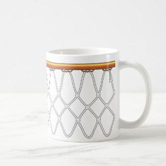 Basketball Hoop Net_black outline Coffee Mugs