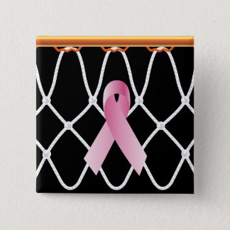 Basketball Hoop Net_ribbon campaign 15 Cm Square Badge