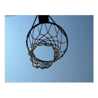 basketball hoop postcard