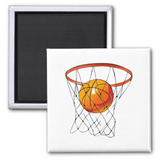 Basketball Hoop Square Magnet