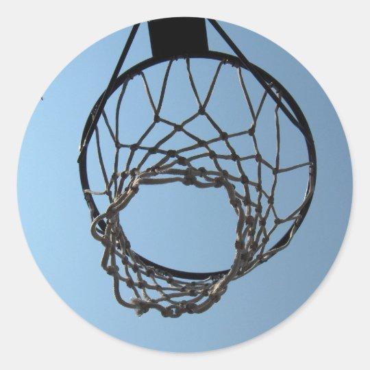 Basketball hoop stickers