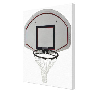 Basketball hoop with backboard canvas print