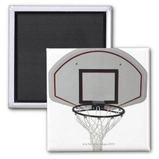 Basketball hoop with backboard magnet