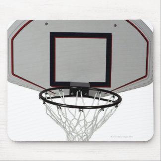 Basketball hoop with backboard mouse mat
