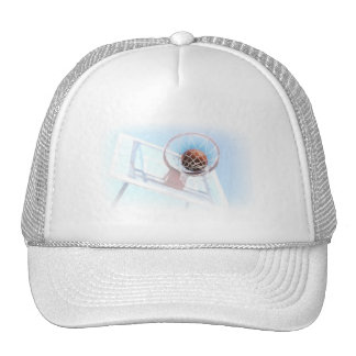 Basketball Hoop With Basketball Mesh Hat