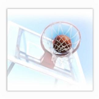 Basketball Hoop With Basketball Standing Photo Sculpture